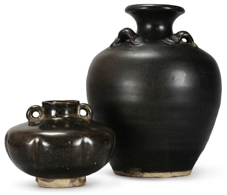 Two brown-glazed pottery jars, Northern Song dynasty (960-1127)