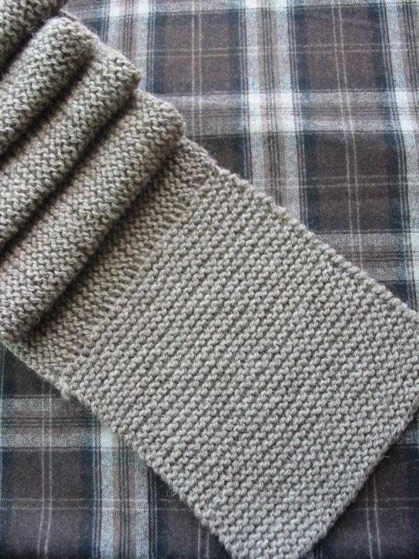 tricoter echarpe point mousse