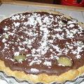 Flan chocolaté poires/amandes