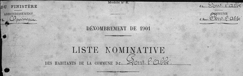 Pont l'abbé 1901 dénombrement_5