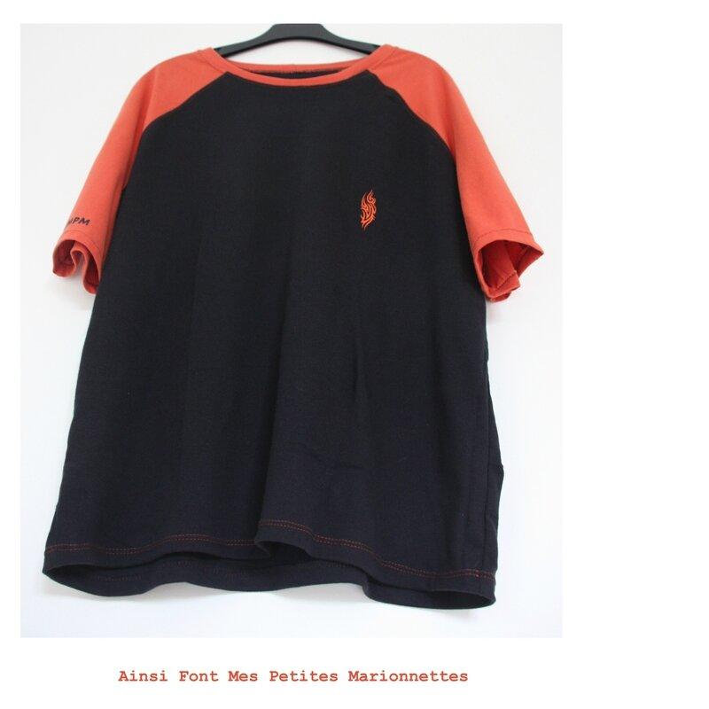 tee shirt orange tribal charly 4
