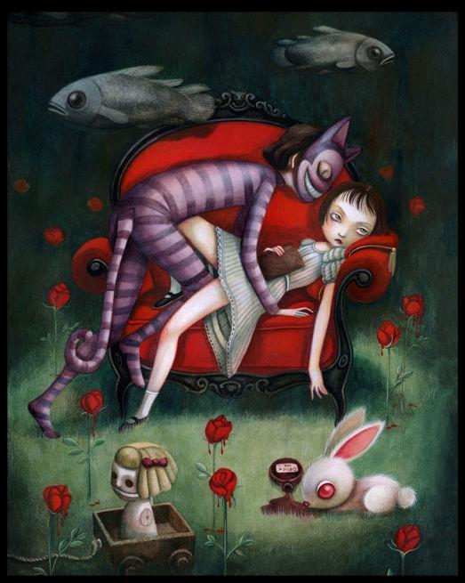 Alice au pays des merveilles, illustré par Benjamin Lacombe. 31220269