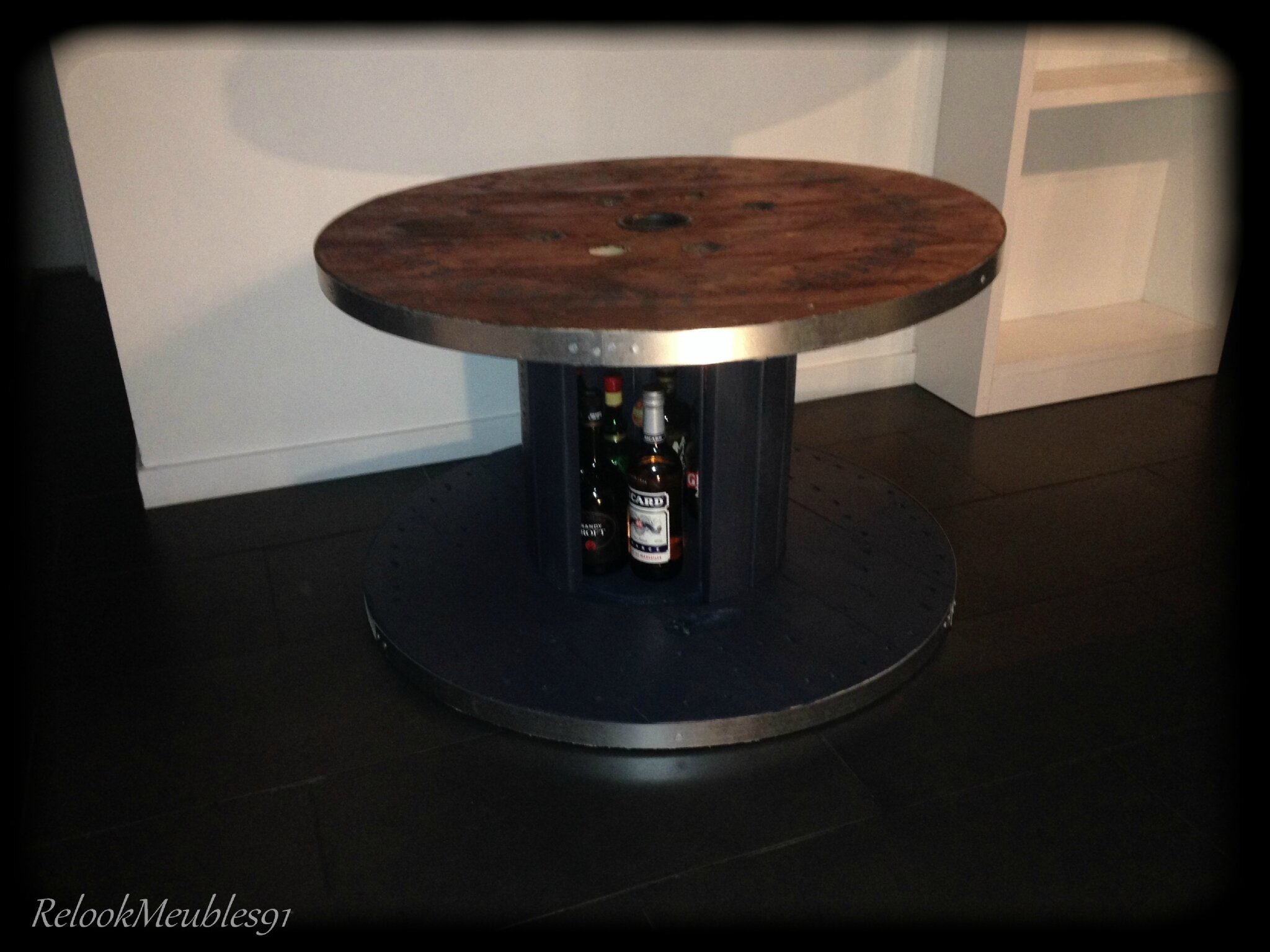 Touret table basse mini bar relookmeubles91 - Table basse avec rangement bar ...
