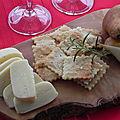 Craquelins à l'huile d'olive et au romarin, sans gluten et sans lactose