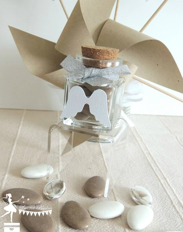 Bapt me th me ange d co la f e poudr e le blog - Decoration bapteme theme ange ...