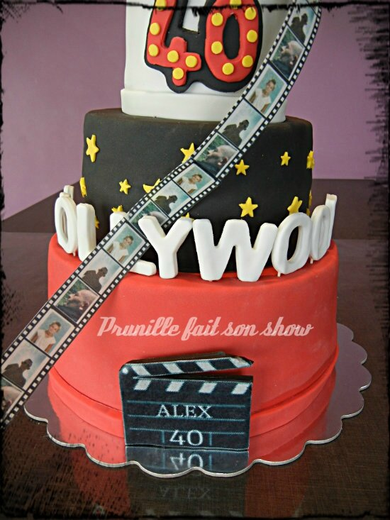 hollywood cake azyme personnalisée pour gateaux prunillefee