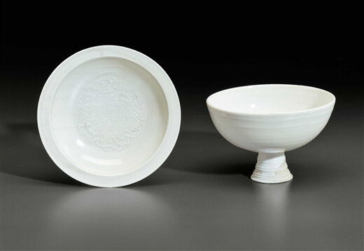 Two white-ware vessels, China, Jin-Yuan Dynasty, 12th-14th century