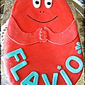 Gateau barbapapa rouge {barbidur }