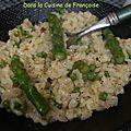 Risotto verde (aux asperges et petits pois)