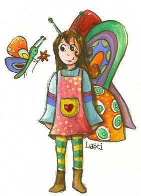 papillon +fille blog