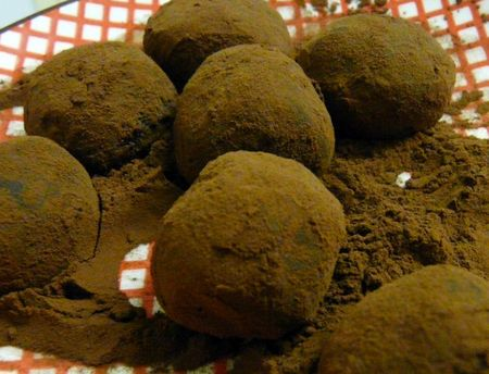 Truffes au cassis