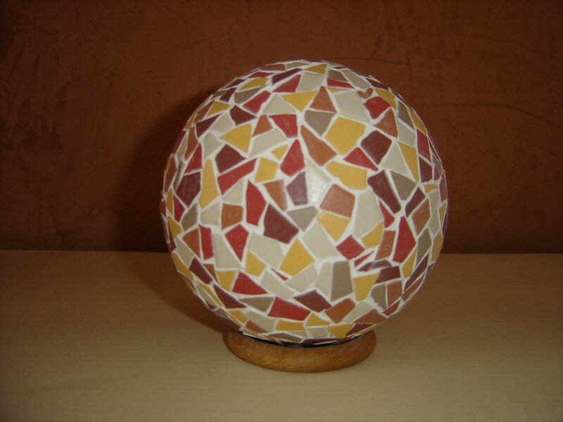 Boule mosaique 007 photo de mes cr ations d co et for Deco damidot et compagnie