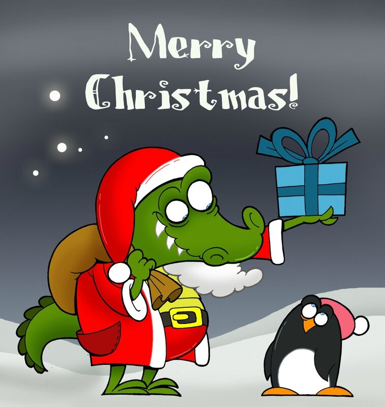 Cristmas-Santa-Claus-Crocodile-coloring-pages-colored-970x1024