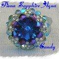 Bague fiona sapphir aqua