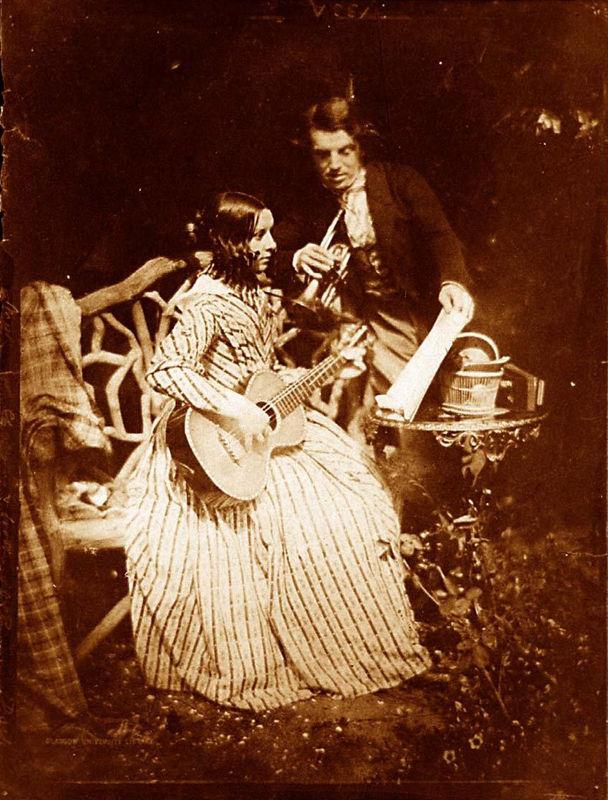 50. Robert ADAMSON and David Octavius HILL, Portrait de Miss Elizabeth Chalmers et son frère David Chalmers, 1843-1847.