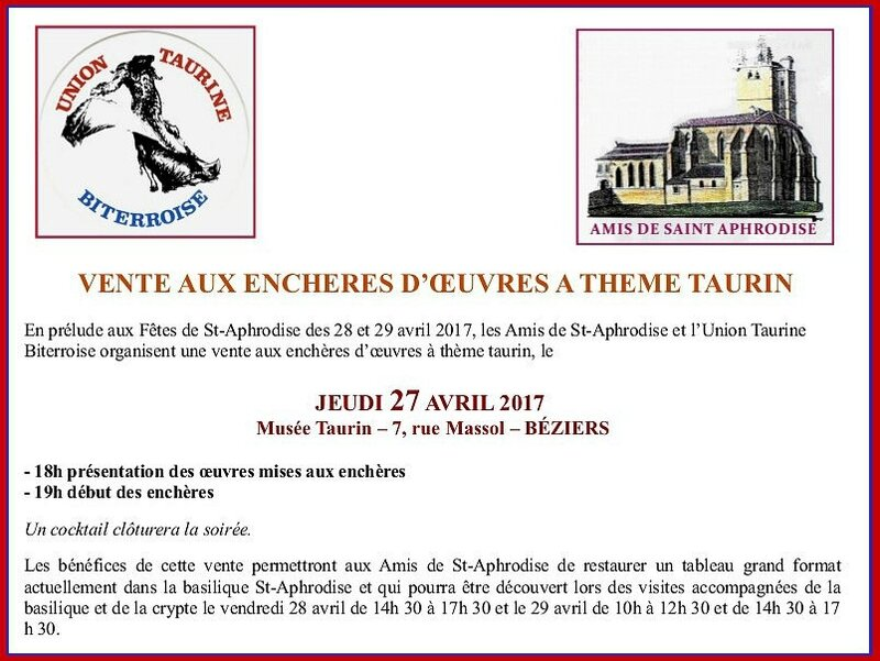 VENTE AUX ENCHERES 27 AVRIL