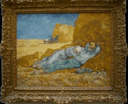 La sieste d'après Millet