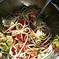 Salade de nouilles udon au thon