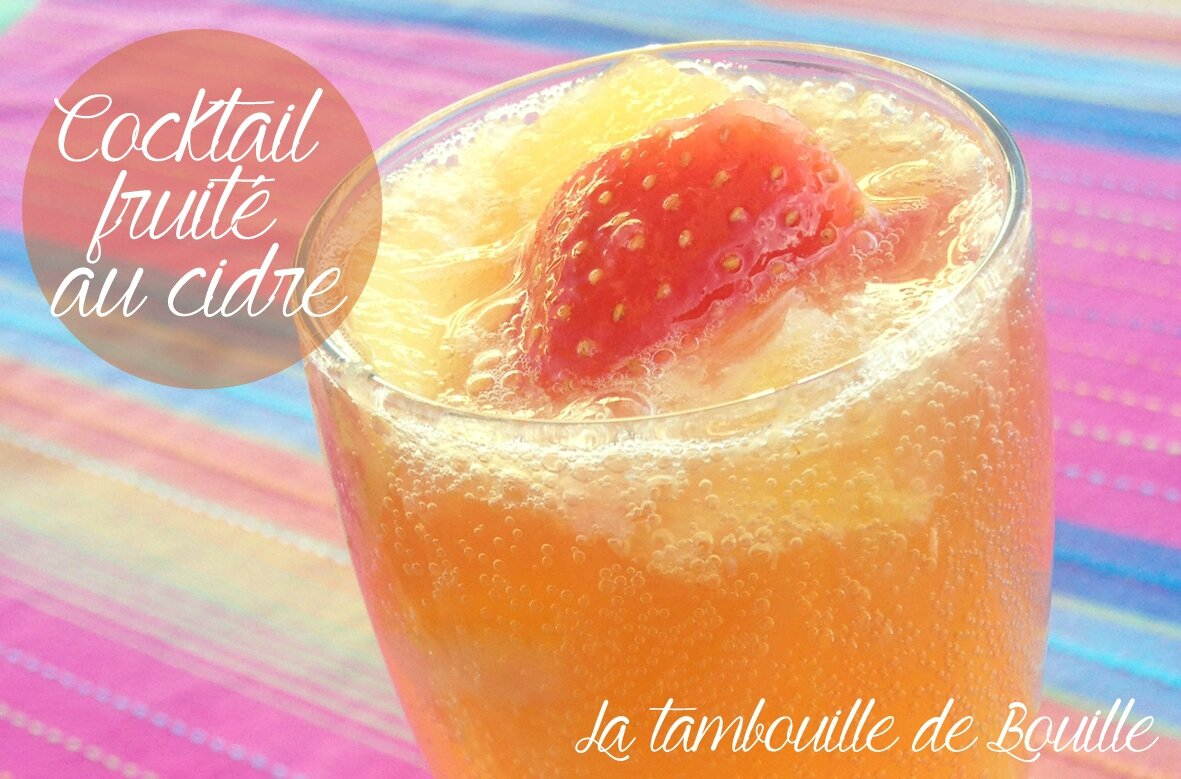 Cocktail fruité au cidre