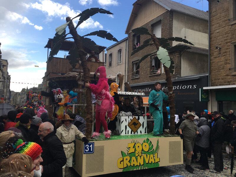 Carnaval Granville Manche 2017 char zoo
