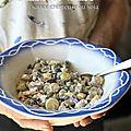 Salade de petites rattes, sauce crémeuse et légère