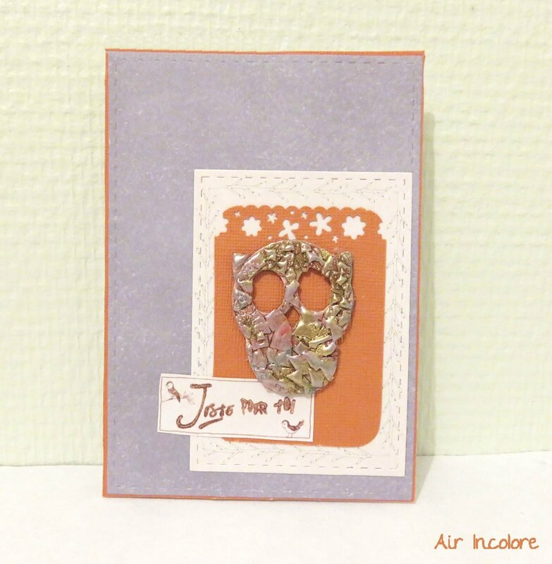 Carte Hibou coquille d'oeuf