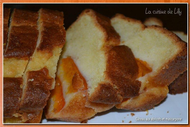 gâteau abricots mascarpone