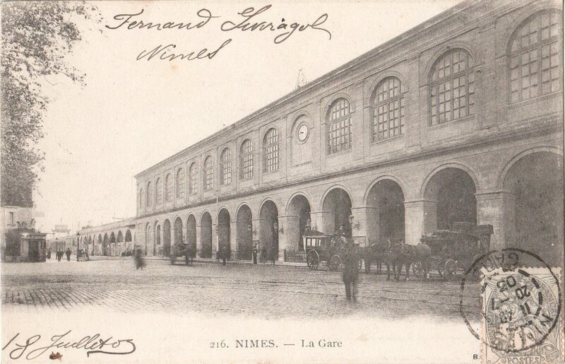 La gare cartes postales anciennes semi modernes for Mercerie nimes