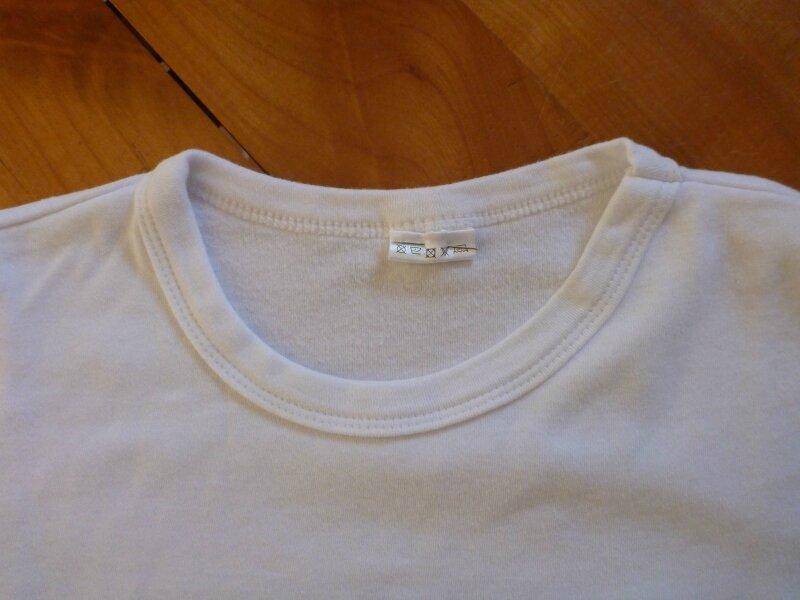 Avant-Après encolure tee-shirt