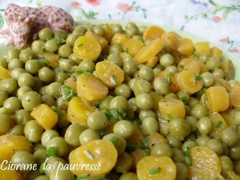 Salade de petits pois la cuisine de quat 39 sous for Petit pois cuisine