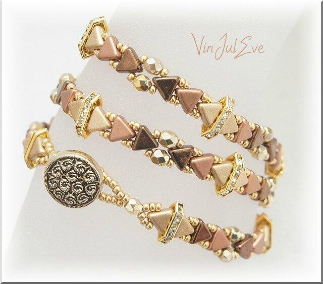 bracelet Skara dégradé marrons