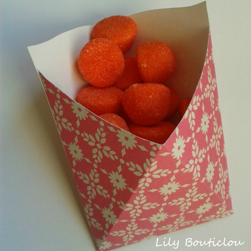 cornet carton bonbon candy bar DIY lilybouticlou