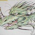 Dragon au feutre et crayons de couleurs (Lorène)