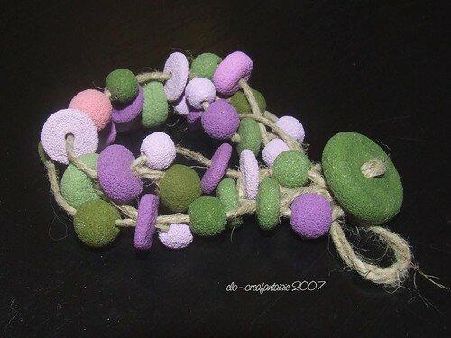 sucré tressé kaki violet