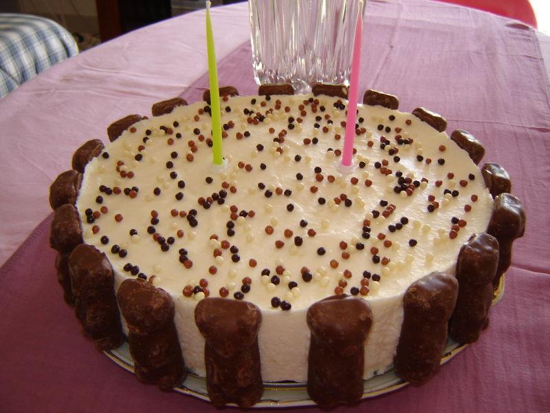 G teau d 39 anniversaire entremet chocolat poire un peu - Decoration gateau chocolat anniversaire ...