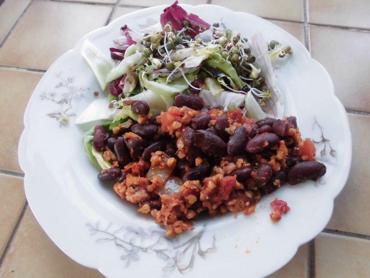 Chili au sarrazin sans gluten