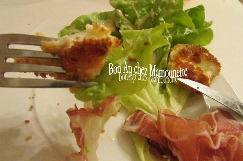babybel frits sur nid de salade et sa coppa 010