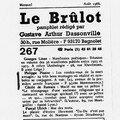 Le brûlot, août 1988.