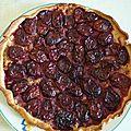 Tarte aux prunes et à l'amande