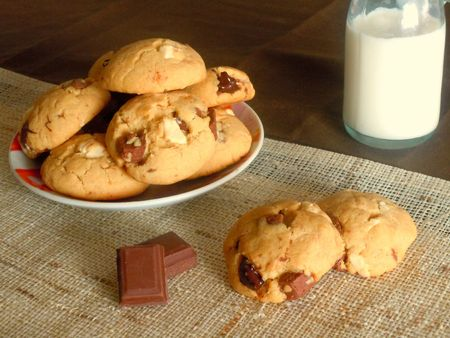 cookies beurre cacahutes chocolat