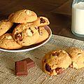 Cookies {beurre de cacahuètes & 3 chocolats}