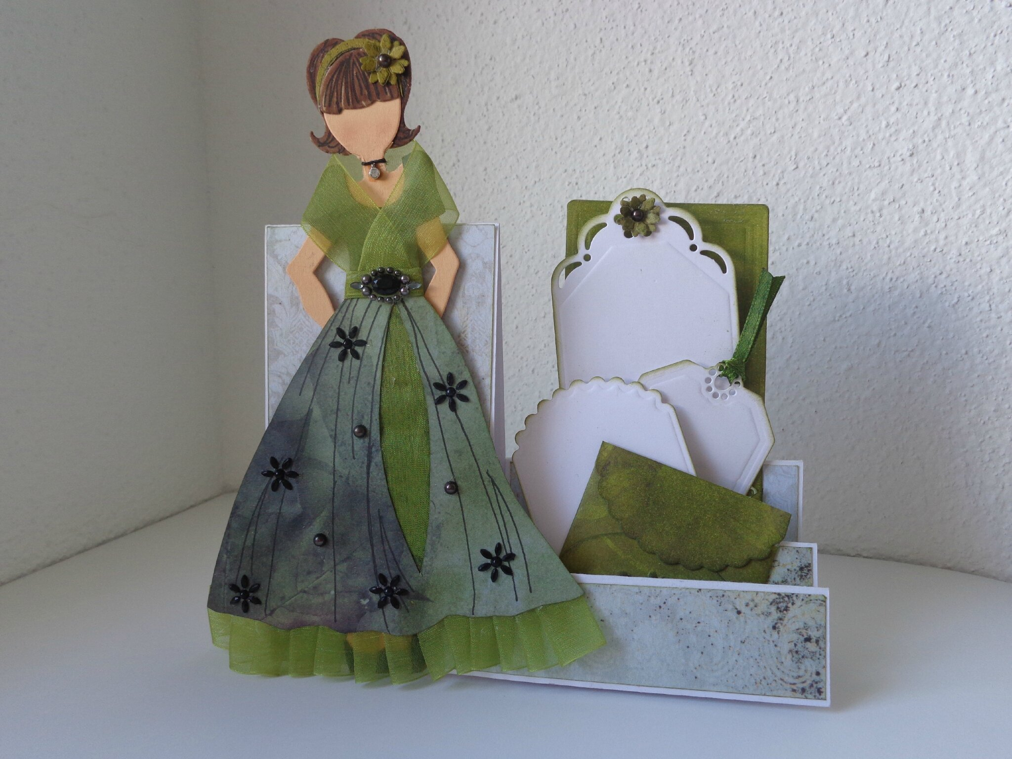 "Carte escalier ""Doll Amandine"""