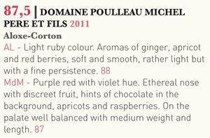 Tasted-Journal-domaine-Poulleau-Aloxe-Corton-2011
