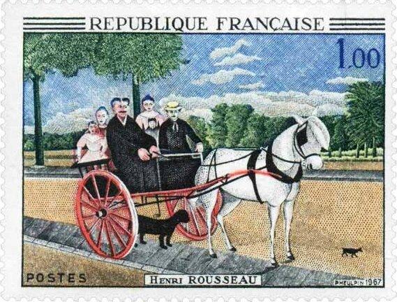 1718-15 Rousseau carriole junier timbrejpg