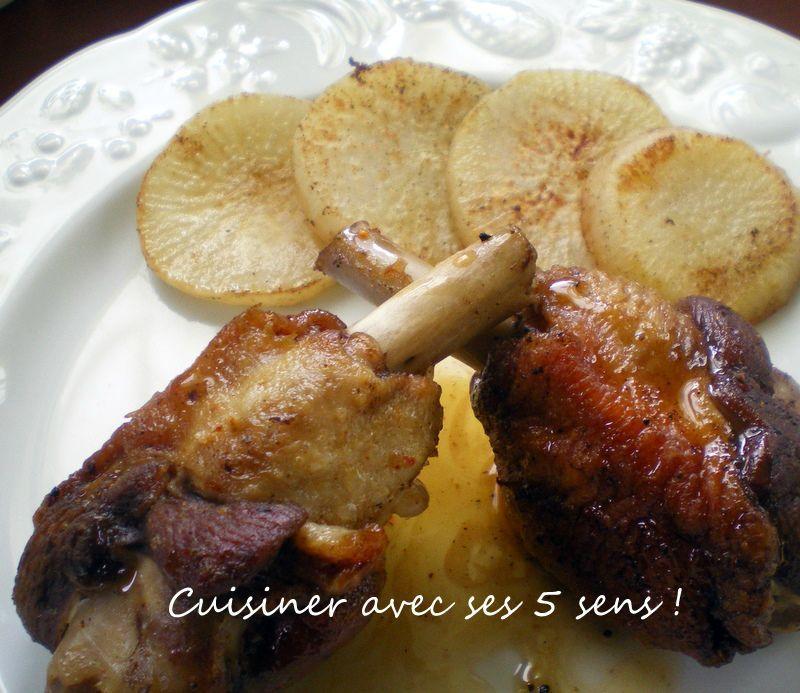 Manchons de canard et navets cuisiner avec ses 5 sens - Comment cuisiner des manchons de canard ...