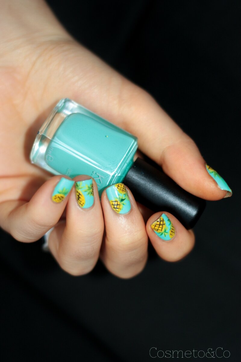 nail art ananas tropical été summer pineapple_-2