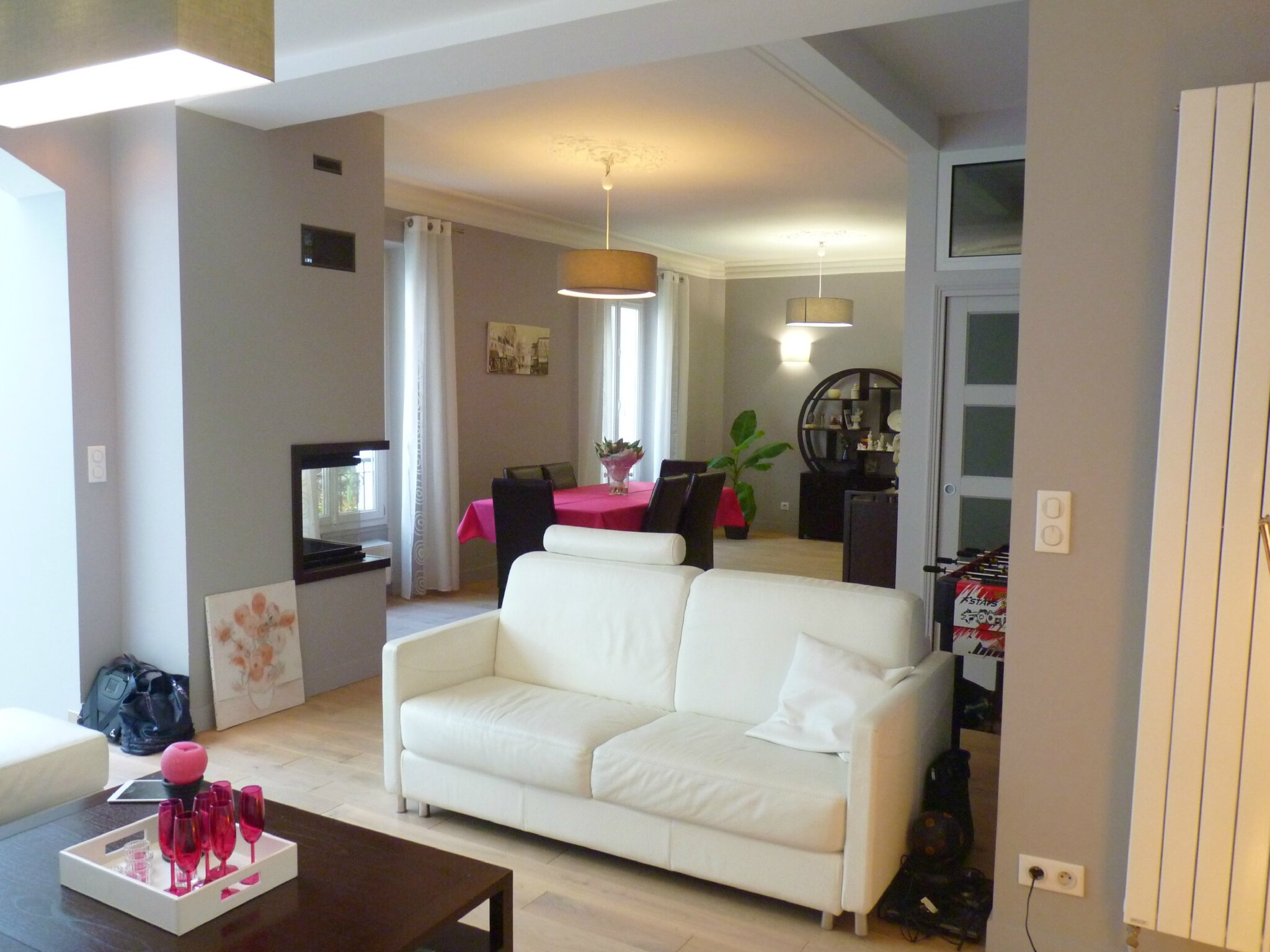 salon partie de l 39 extension photo de extension maison 92 am lie pell architecte d. Black Bedroom Furniture Sets. Home Design Ideas