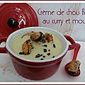 Creme de chou fleur au curry et moules