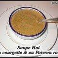 Soupe hot à la courgette & au poivron rouge