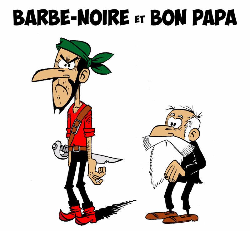 barbe noire et bon papa